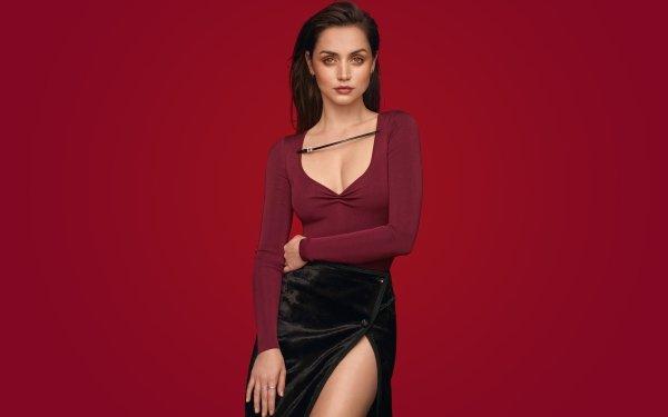 Celebrity Ana de Armas Actresses Actress Cuban Black Hair HD Wallpaper | Background Image