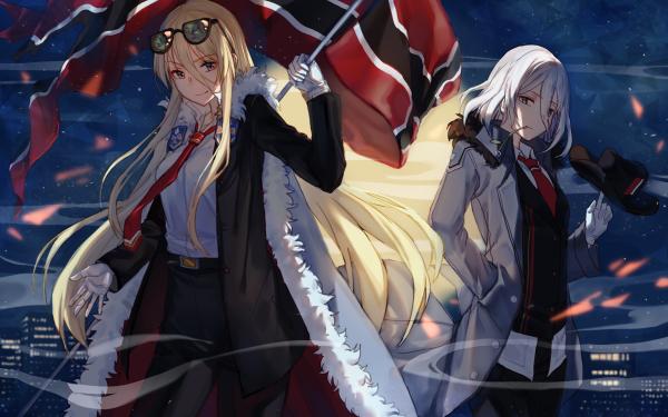 Anime Azur Lane Bismarck Tirpitz HD Wallpaper | Background Image