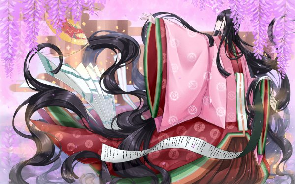 Anime Fate/Grand Order Fate Series Murasaki Shikibu Girl Long Hair Black Hair Kimono HD Wallpaper   Background Image