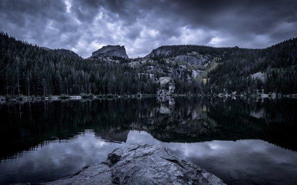 Earth Lake Lakes Rock Landscape Reflection Colorado HD Wallpaper | Background Image