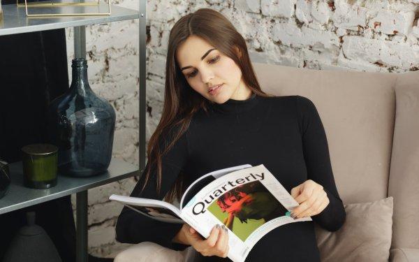 Women Mood Brunette Magazine HD Wallpaper | Background Image