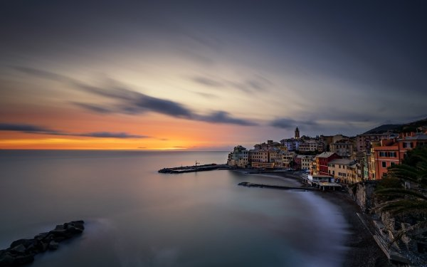 Man Made Liguria Towns Italy Bogliasco HD Wallpaper | Background Image