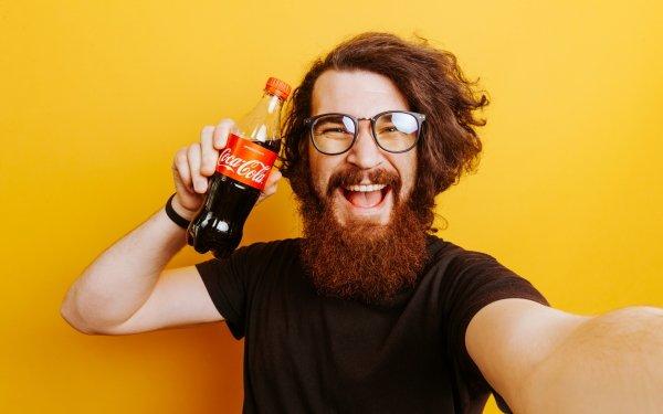 Men Beard Coca Cola HD Wallpaper | Background Image