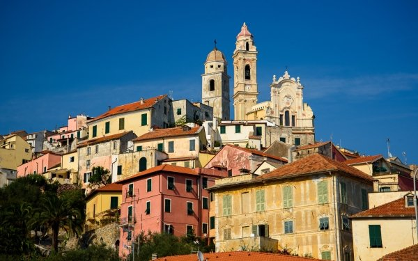Man Made Liguria Towns Italy House Church HD Wallpaper | Background Image
