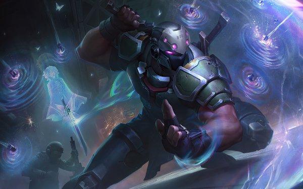 Video Game League Of Legends Shen Ninja HD Wallpaper | Background Image