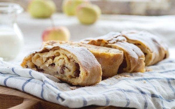 Food Baking Apple Strudel HD Wallpaper   Background Image