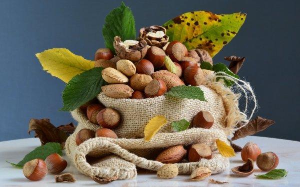 Food Nut Walnut Hazelnut Almond HD Wallpaper | Background Image