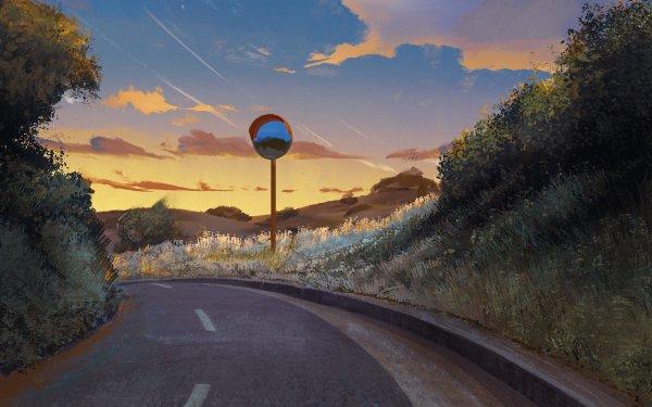 Anime Original Sunset HD Wallpaper | Background Image