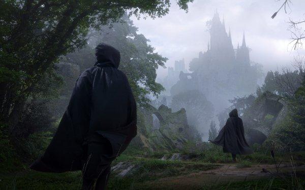 Fantasy Warrior Cloak Forest HD Wallpaper | Background Image