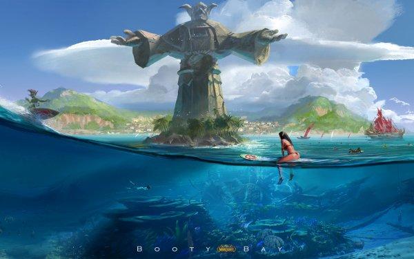 Video Game World Of Warcraft Warcraft Surfboard Island Sea HD Wallpaper   Background Image