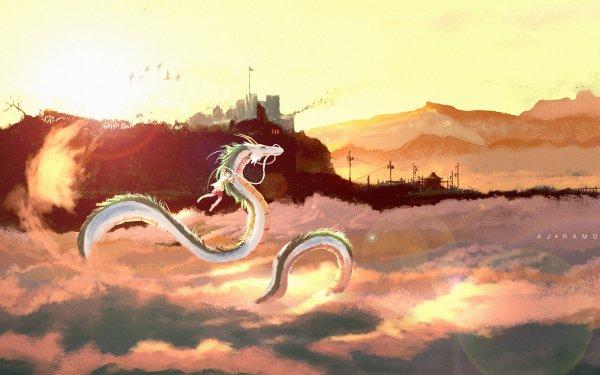 Anime Spirited Away Chihiro Chinese Dragon HD Wallpaper | Background Image