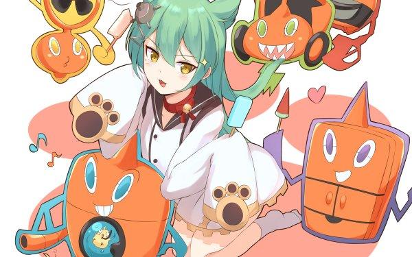 Anime Crossover Rotom Akashi Azur Lane Pokémon HD Wallpaper | Background Image