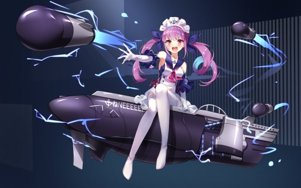 Anime Crossover Minato Aqua Hololive Azur Lane HD Wallpaper | Background Image