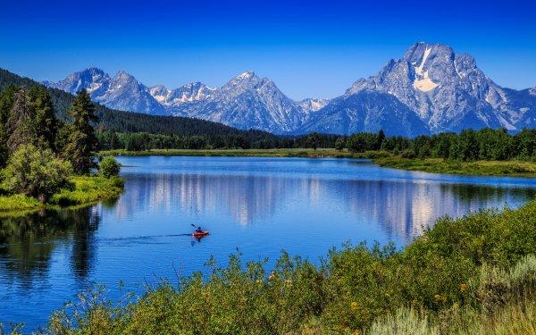 Photography Mountain Mountains Grand Teton National Park Mount Moran Snake River HD Wallpaper   Background Image