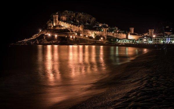 Man Made Town Towns Catalonia Spain Tossa de Mar HD Wallpaper | Background Image