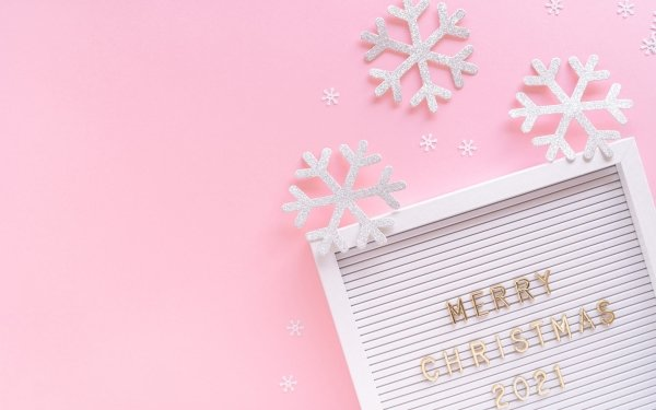 Holiday Christmas Snowflake Frame Merry Christmas HD Wallpaper | Background Image