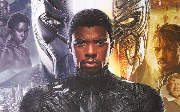 Movie Black Panther Chadwick Boseman Michael B. Jordan T'Challa Erik Killmonger Ulysses Klaue Andy Serkis HD Wallpaper | Background Image
