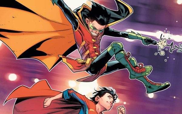 Comics Super-Sons Damian Wayne Jon Kent Superboy Robin DC Comics HD Wallpaper   Background Image