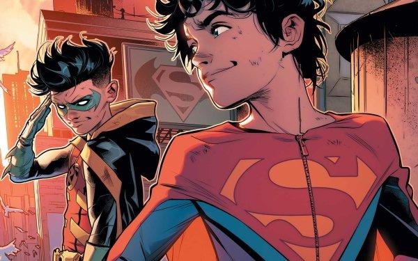Comics Super-Sons Damian Wayne Jon Kent Robin Superboy DC Comics HD Wallpaper   Background Image