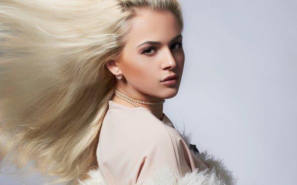 Women Model Models Woman Girl Blonde Green Eyes HD Wallpaper   Background Image