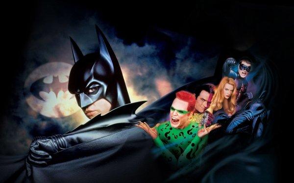 Movie Batman Forever Batman Movies Val Kilmer Jim Carrey Tommy Lee Jones Chris O'Donnell Nicole Kidman Two-Face Riddler Robin Dr. Chase Meridian HD Wallpaper | Background Image