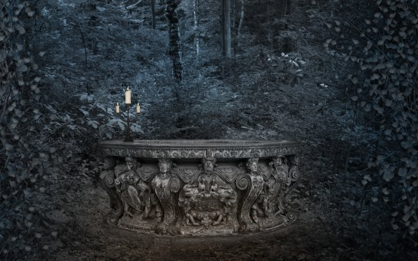 Dark Gothic Candelabra HD Wallpaper | Background Image