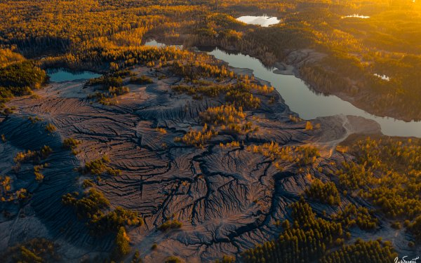Photography Aerial Landscape Lake HD Wallpaper | Background Image