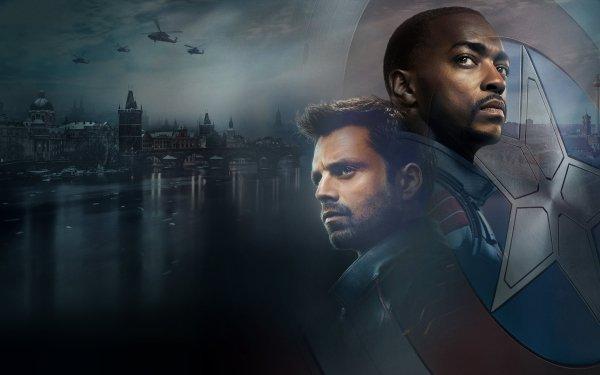 Séries TV Falcon et le Soldat de l'hiver Anthony Mackie Bucky Barnes Sam Wilson Sebastian Stan Winter Soldier Falcon Fond d'écran HD | Arrière-Plan