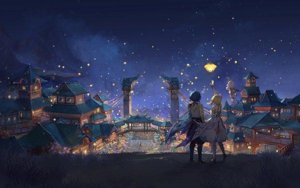 Video Game Genshin Impact Lumine Paimon Xiao Liyue HD Wallpaper | Background Image