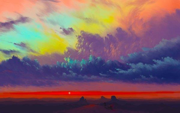 Artistic Sky Cloud Landscape HD Wallpaper   Background Image