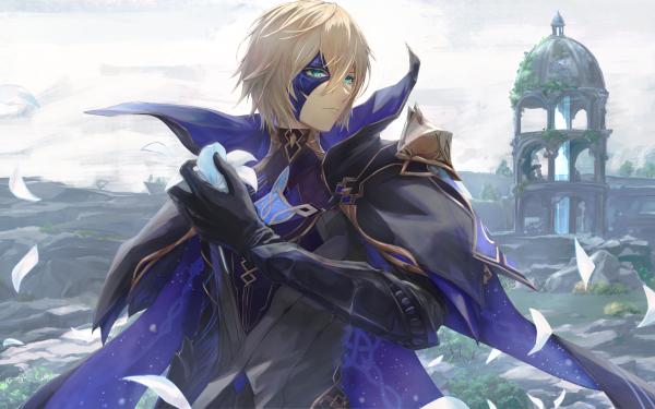 Video Game Genshin Impact Dainsleif Blonde Blue Eyes HD Wallpaper   Background Image