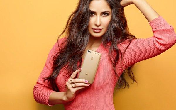 Celebrity Katrina Kaif Actresses India Brunette Actress English Brown Eyes Smartphone HD Wallpaper | Background Image