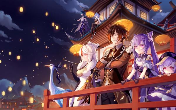 Video Game Genshin Impact Ganyu Keqing Ningguang Xiao Zhongli Qiqi HD Wallpaper | Background Image