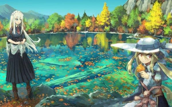 Anime Girl Lake HD Wallpaper   Background Image