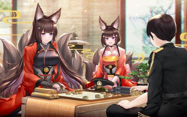 Anime Azur Lane Amagi Commander HD Wallpaper | Background Image