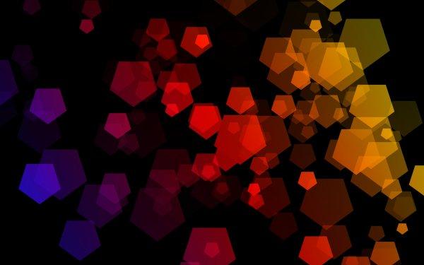 Abstract Colors Pentagon Digital Art HD Wallpaper | Background Image