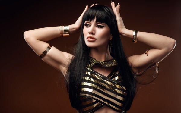 Women Model Models Black Hair Long Hair HD Wallpaper | Background Image