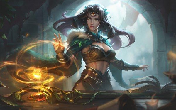 Fantaisie Magicienne Woman Fille Staff Magique Fond d'écran HD   Arrière-Plan