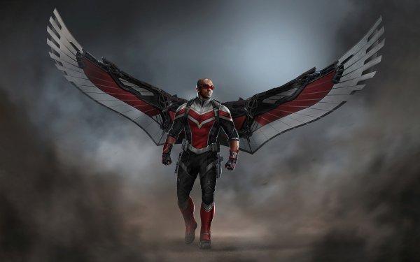 Séries TV Falcon et le Soldat de l'hiver Falcon Anthony Mackie Sam Wilson Marvel Comics Wings Fond d'écran HD | Arrière-Plan