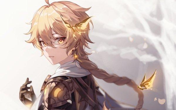 Videospel Genshin Impact Aether Blond Yellow Eyes HD Wallpaper | Achtergrond