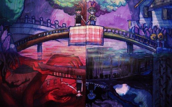 Video Game OMORI Omori Sunny Basil Boy Bridge HD Wallpaper | Background Image