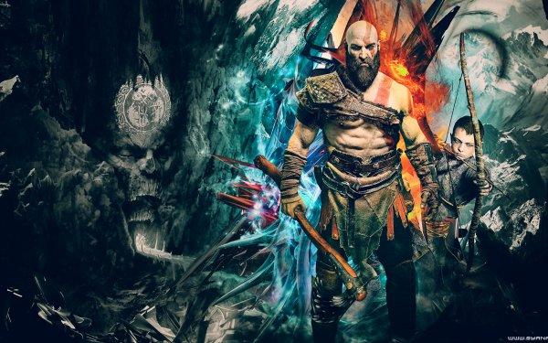 Video Game God of War (2018) God of War Kratos Atreus HD Wallpaper | Background Image