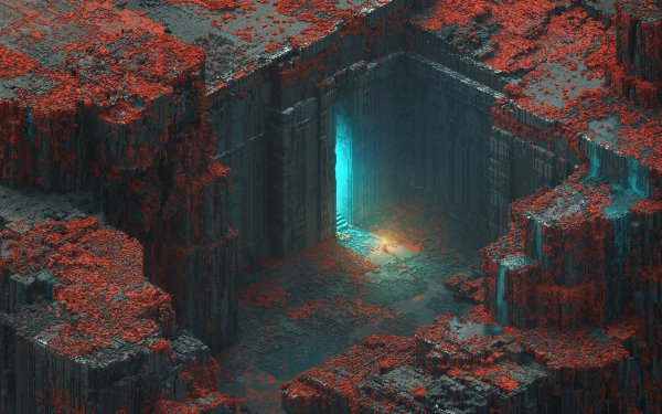 Artistic 3D Art Voxel Isometric HD Wallpaper | Background Image