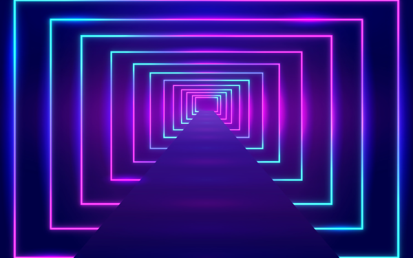 Artistic Neon Tunnel HD Wallpaper | Background Image
