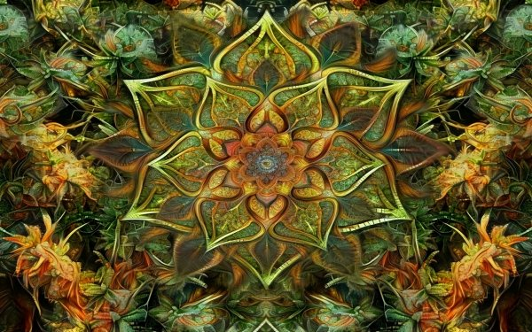 Abstract Fractal Mandala HD Wallpaper | Background Image