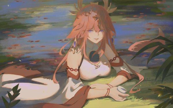 Video Game Genshin Impact Yae Miko Guuji HD Wallpaper   Background Image