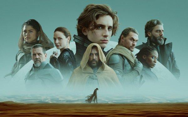 Movie Dune (2021) Timothée Chalamet Javier Bardem Zendaya Jason Momoa Sharon Duncan-Brewster Josh Brolin HD Wallpaper | Background Image