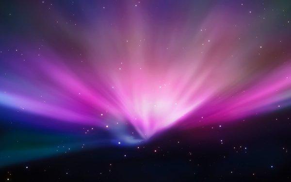 Sci Fi Space Apple Inc. Aurora Borealis HD Wallpaper | Background Image