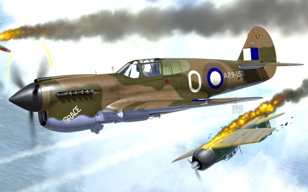 Military Curtiss P-40 Warhawk Military Aircraft HD Wallpaper | Background Image