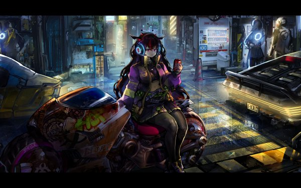 Anime Virtual Youtuber IRyS Hololive Cyberpunk HD Wallpaper   Background Image